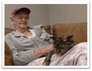 AAT - Sr woman and cat